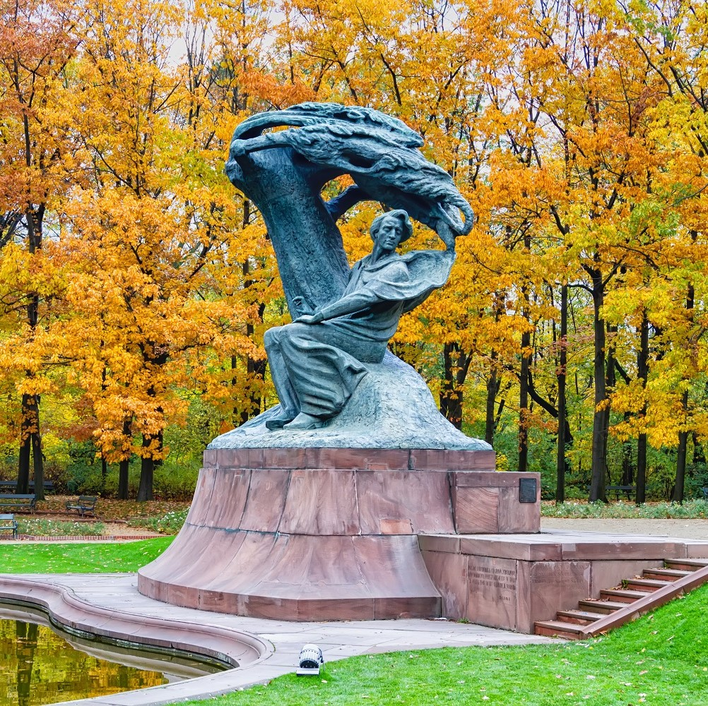 Monumento a Chopin en Varsovia